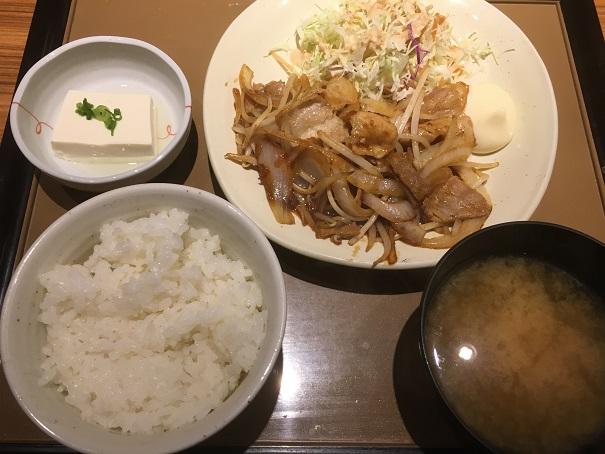 やよい軒-生姜焼き定食