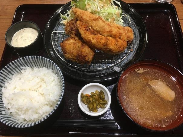 とり弁鶏-4種の唐揚げタルタル定食