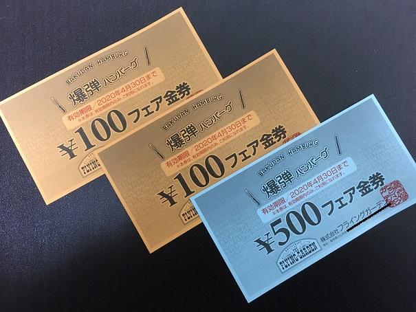 フライングガーデン-金券3枚