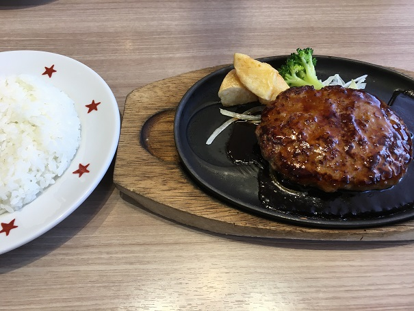 ステーキのどん-どんハンバーグとライス