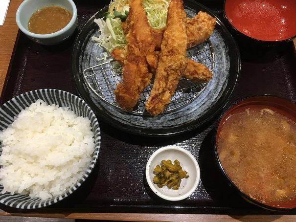 とり弁鶏-ささみ唐揚げ旨味噌にんにく定食