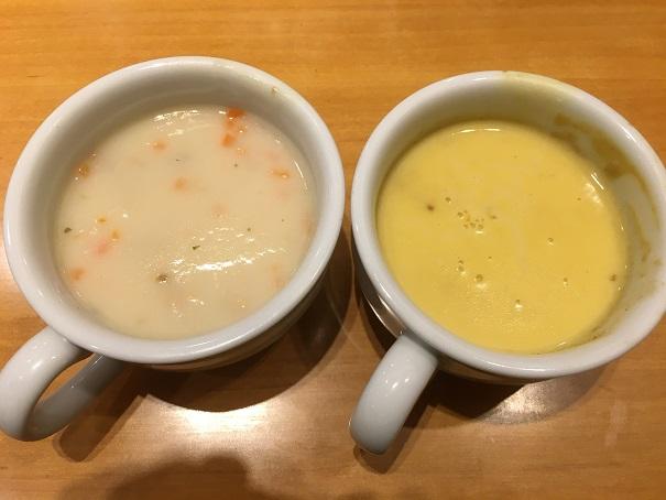 ステーキ宮-スープ(クラムチャウダー、コーン)