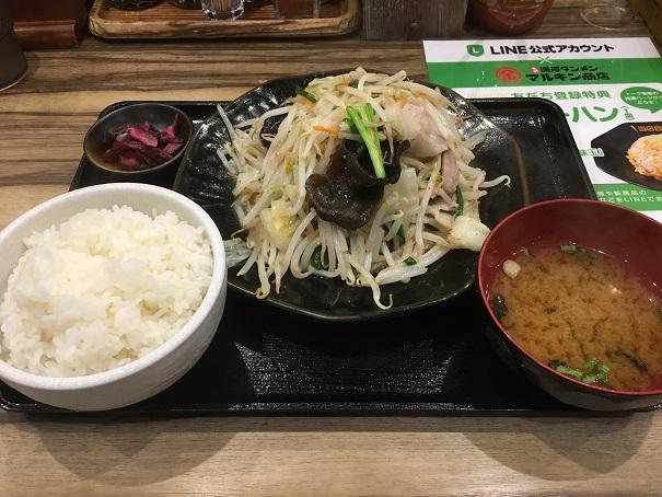 マルキン商店-肉野菜炒め定食