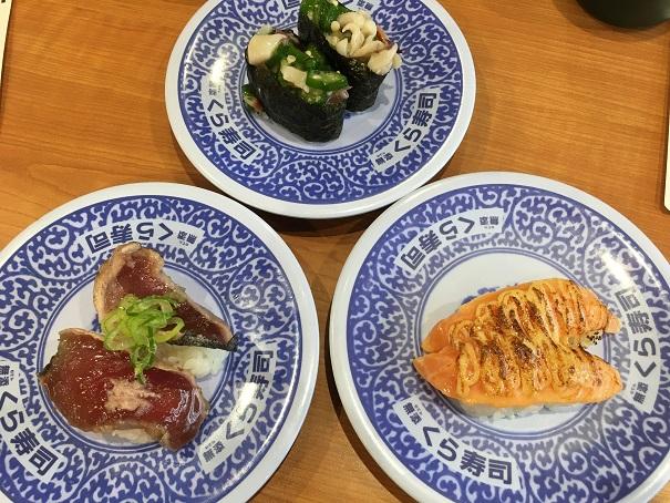 くら寿司-各種お寿司3皿