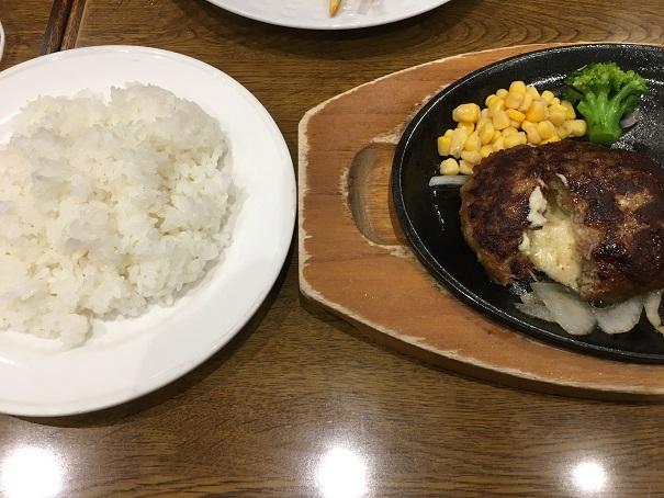 ココス-チーズインハンバーグとライス
